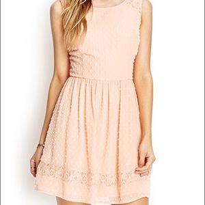 Flirty Peach Dress
